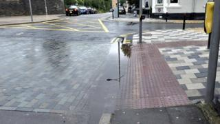 The scheme with a big puddle