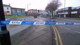 Cordon outside scene of stabbing
