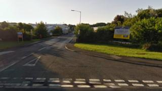 Entrance to industrial estate