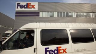 FedEx delivery van