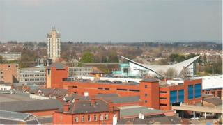 Wrexham high rise police station is a landmark in the town centre