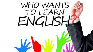 """Who wants to learn English? - заставка проекта """"Learn English with the BBC"""" (Учите английский язык с Би-би-си)"""