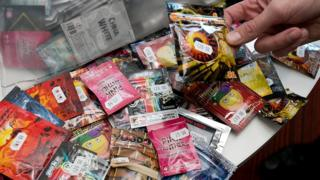 Lots of packets of so-called legal highs