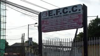 EFCC signboard for Lagos