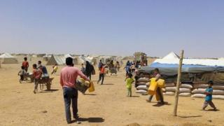 Refugees at Ruqban camp (28/06/16)