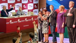 """Съезды ПАРНАС и """"Яблока"""""""
