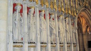 Статуи английских королей в Йоркском соборе