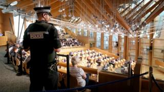Police officer Holyrood chamber