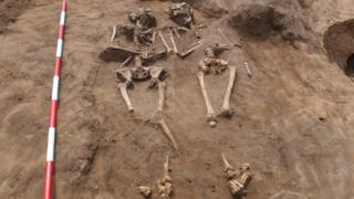 The graves contain men, women and children and date back 2,000 years ©Allen Archaeology