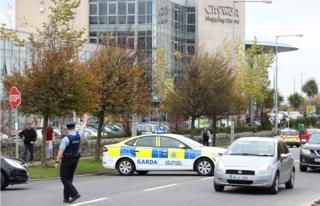 A man in his 30s was arrested at gunpoint in City West shopping centre