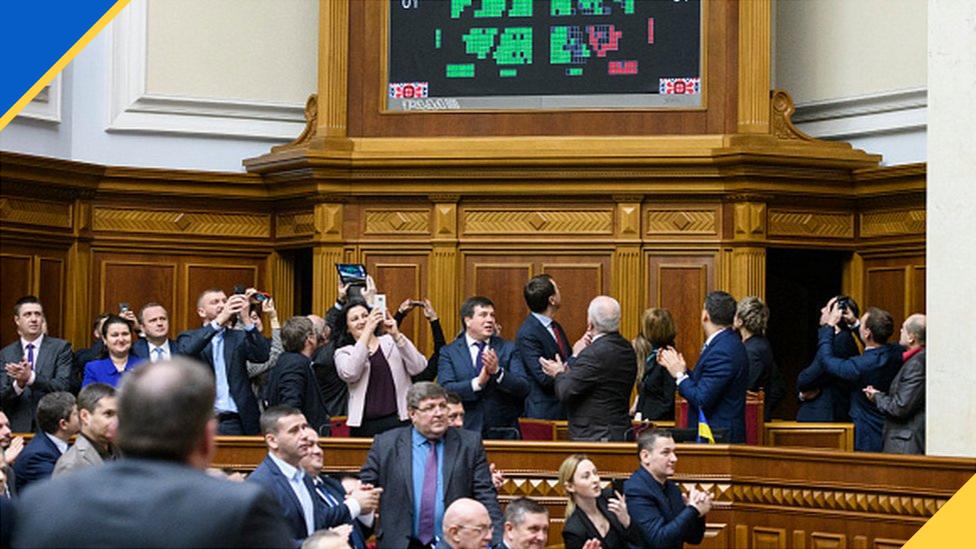 Депутати і міністри у сесійній залі ВРУ