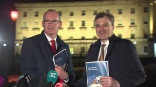 Simon Coveney and Julian Smith