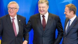 Pyotr Poroshenko Ovro'po rasmiylari bilan