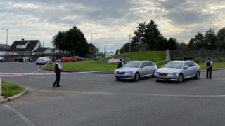 Scene of stabbing in west Belfast