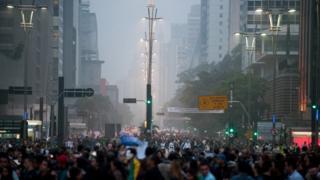 Protesto em São Paulo em 17/06/2013