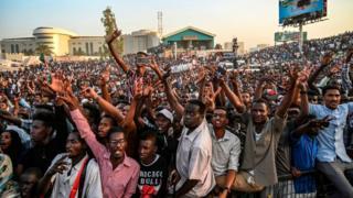 Des manifestants sont venus de tous les coins du Soudan pour participer à la marche de ce jeudi 25 avril.