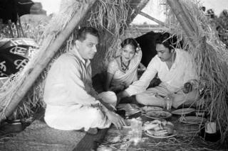 Himansu Rai, Devika Rani and Ashok Kumar/Izzat