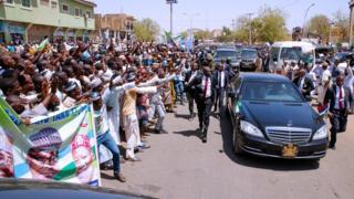 President Buhari convoy