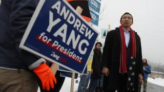 in_pictures Andrew Yang campaigning in New Hampshire, 11 February 2020