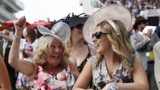 Ladies' Day at Epsom racecourse