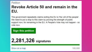 Screengrab of the petition online.