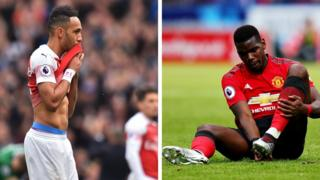 Agbabọọlu Arsenal ati Manchester United