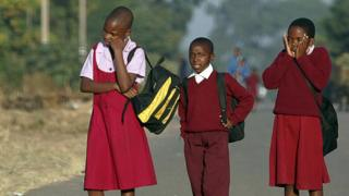 Children on their way to school in Zimbabwe - archive shot