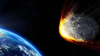 Recreación de un asteroide que se dirige a la Tierra