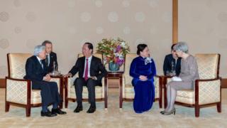 Ông Trần Đại Quang và Phu nhân bày tỏ xúc động và cảm ơn sự đón tiếp của Nhà vua, Hoàng hậu và Chính phủ Nhật Bản