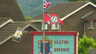 Nazi flag erected in Carrickfergus