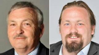 Conservative leader Alan Jarrett (left) and labour leader Vince Maple (right)