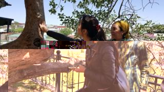 The pilgrimage ends with every visitor touching the centuries old pistachio tree outside and making a wish