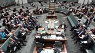 Members of Parliament attend the first Parliamentary sitting of 2016 at Parliament House in Canberra