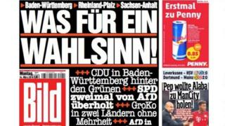 Front page of Bild