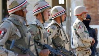 Mısır ordusu askerleri