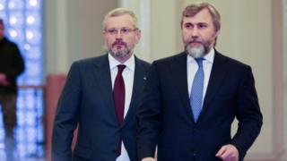 Вадим Новинський (зліва) та Олександр Вілкул у Верховній Раді