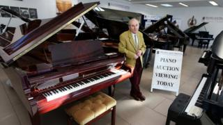 Pianos up for auction