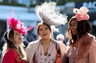 Racegoers arrive ahead of Ladies Day on the second day of the 2017 Cheltenham Festival at Cheltenham Racecourse