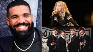 Drake, Madonna and The Beatles