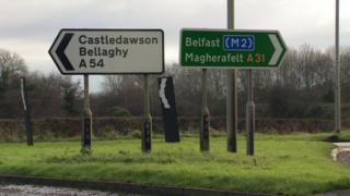 The A6 scheme will include a bypass around Dungiven