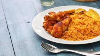 Jollof rice dish