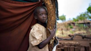 South Sudanese refugee girl