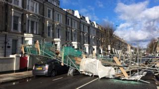 Holland Road scaffolding