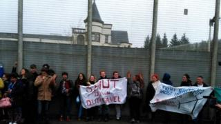Dungavel protesters