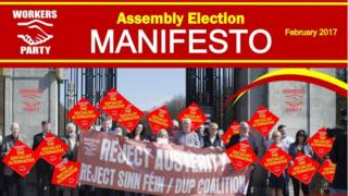 The party is fielding five candidates under a manifesto entitled 'The Socialist Alternative'