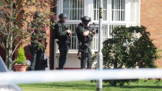 Police were called to the house in Knockantern Grove on Tuesday afternoon