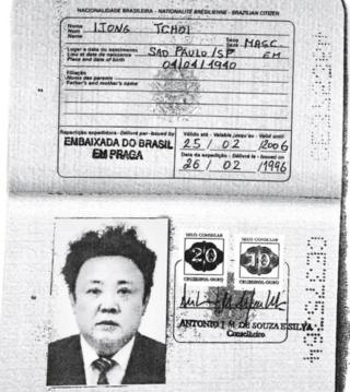 A photocopy obtained by Reuters news agency shows an apparently authentic Brazilian passport issued to the late North Korean leader Kim Jong-il in 1996