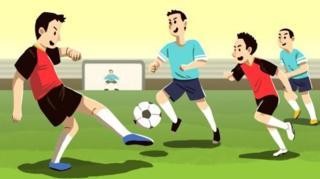 กราฟฟิกเด็กเตะฟุตบอล