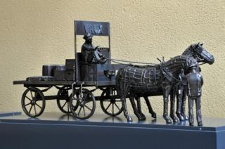 Model of the Vaux Waggon and horses