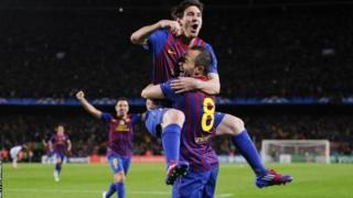 Lionel Messi na Andrea Iniesta